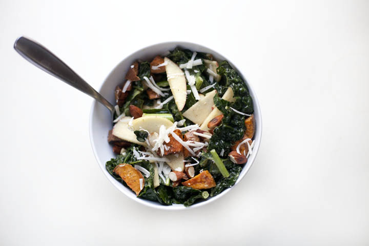 Sweet Potato, Kale and Almond Salad