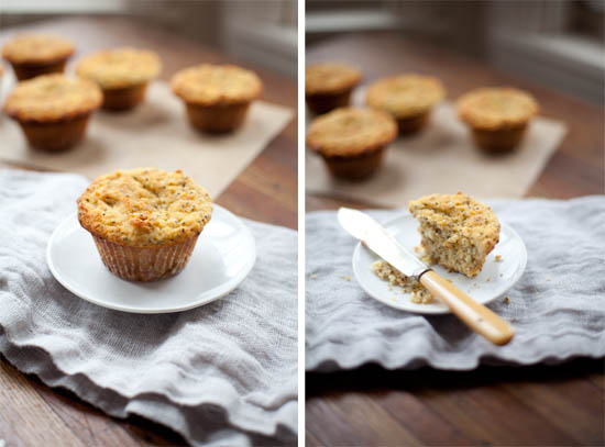 Lemon Chia Seed Muffins | ourfourforks.com