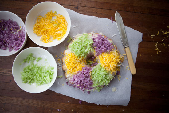 Paleo King Cake with Natural Food Coloring