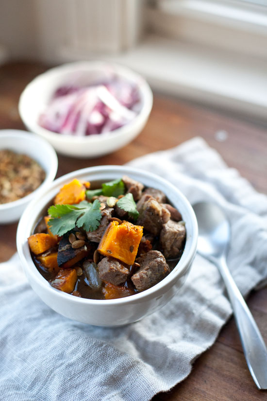 Pork and Butternut Squash Stew | ourfourforks.com