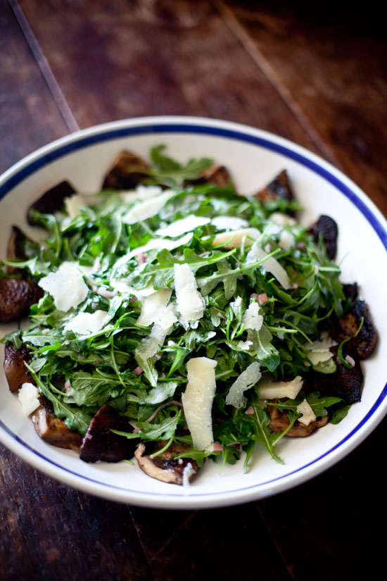 Arugula and Portobello Mushroom Salad | ourfourforks.com
