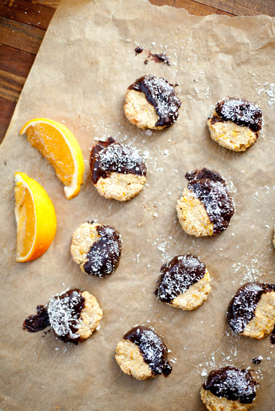 Chewy Apricot Coconut Cookies with Chocolate | ourfourforks.com