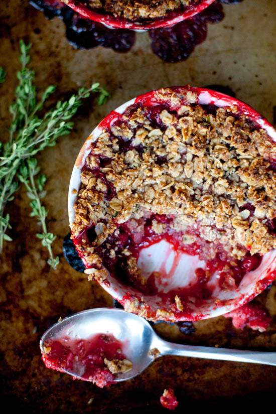 Red Currant + Strawberry Gluten Free Crisp | ourfourforks.com