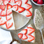 Vegan Strawberry Cheesecake | ourfourforks.com | #vegan #glutenfree #recipe