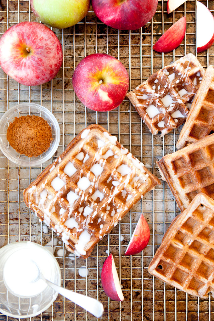 Paleo Apple Cider Waffles | ourfourforks.com | #glutenfree #vegan #recipe